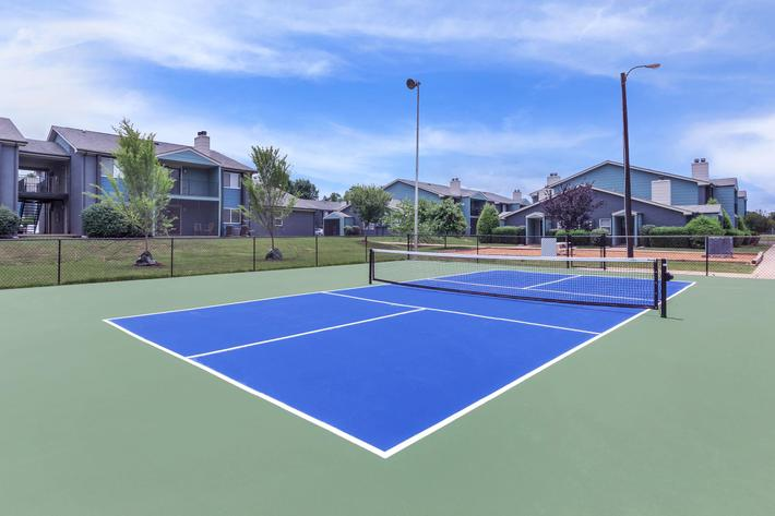 Tennis Court Here At The Whitney In Franklin, Tennessee