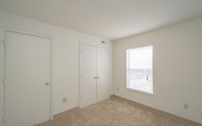 Enjoy the natural lighting and plenty of closets in our spacious bedrooms