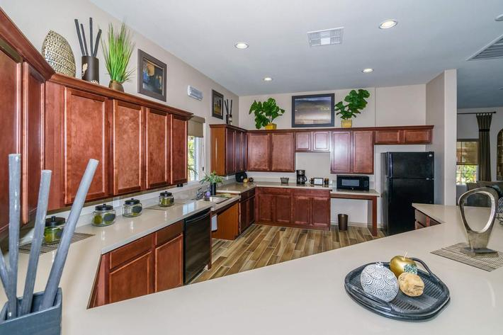 GOURMET RESIDENT KITCHEN AT JARDIN GARDENS IN NORTH LAS VEGAS