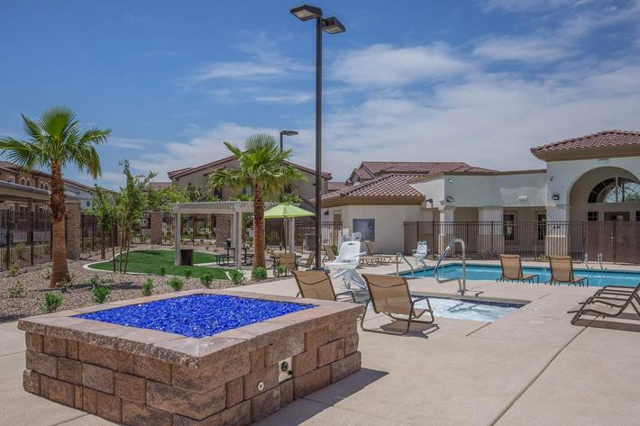 LAGOON STYLE POOL AND SPA AT JARDIN GARDENS IN NORTH LAS VEGAS