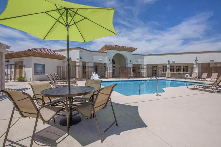 WE HAVE A POOLSIDE LANAI AT JARDIN GARDENS IN NORTH LAS VEGAS