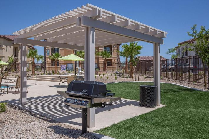 WE HAVE BARBECUE GRILLS AT JARDIN GARDENS IN NORTH LAS VEGAS