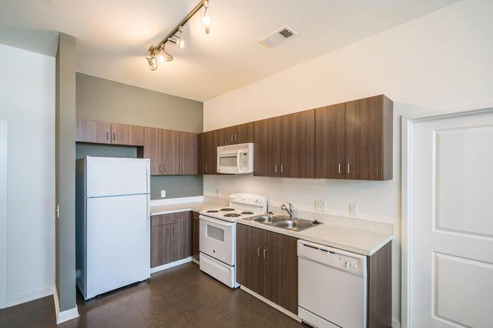 All-electric Kitchens at 715 Woodland