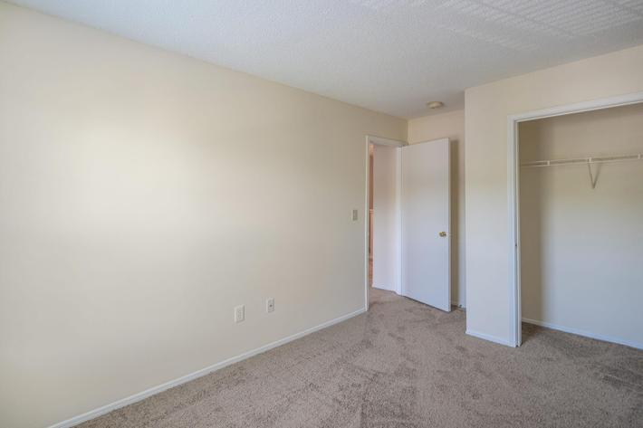 Spacious Closets in Three Bedroom Apartment at Willow Pointe