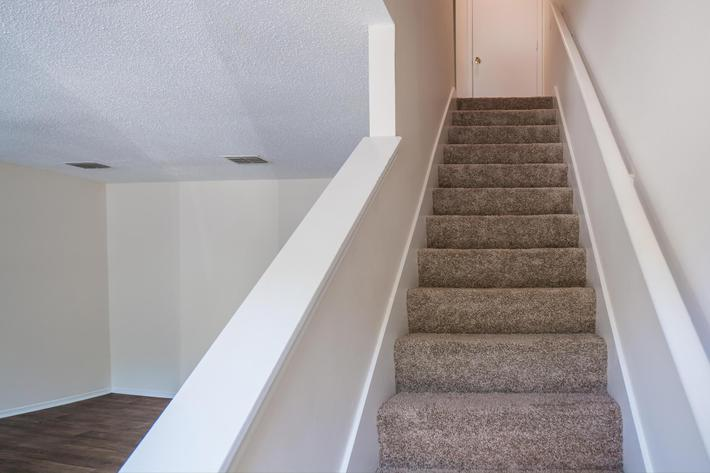 Stair Case in Three Bedroom Apartment at Willow Pointe in Antioch, TN