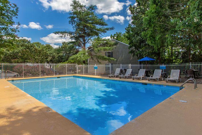an empty swimming pool