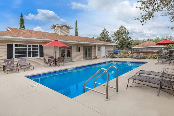 Have fun in our shimmering swimming pool at Lakeland Landing in Lakeland, FL.