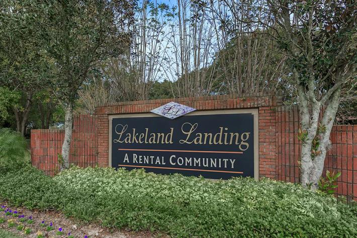 Main entrance at Lakeland Landing in Lakeland, Florida.