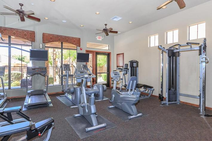 24-Hour State-of-the-Art Fitness Center at The Paseo Apartments in Goodyear, Arizona