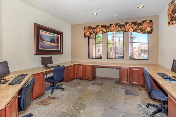 Business Center at The Paseo Apartments in Goodyear, Arizona