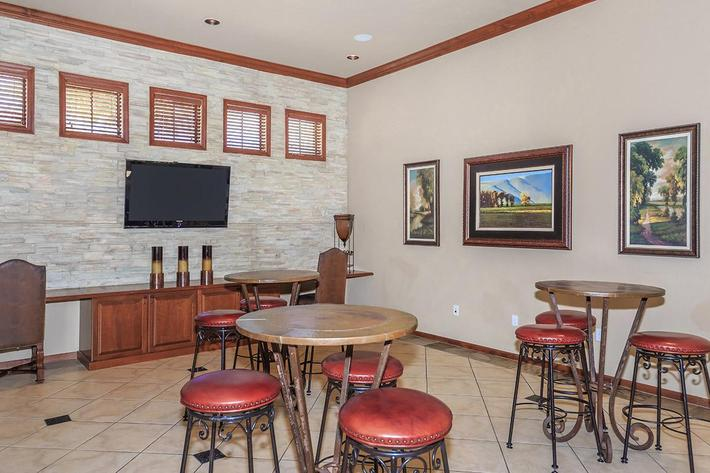 Clubhouse with Fireplace, Entertainment Wet Bar, TVs, and Gourmet Kitchen