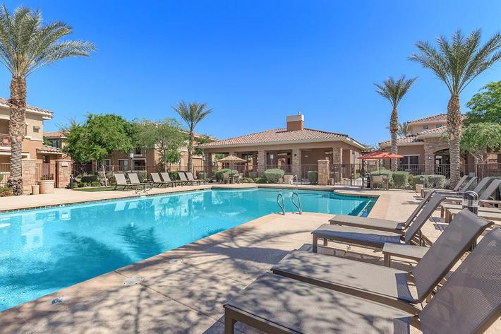 Two Resort-style Pools at The Paseo Apartments in Goodyear, Arizona