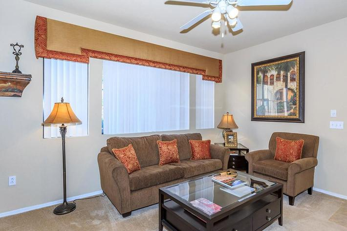 Ceiling Fans in Living Room and Master Bedrooms