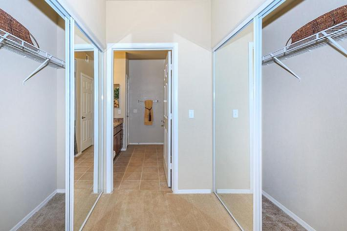 Large Walk-in Closets at The Paseo Apartments in Goodyear, Arizona
