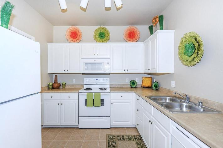 Fully Appointed Kitchens at The Paseo Apartments