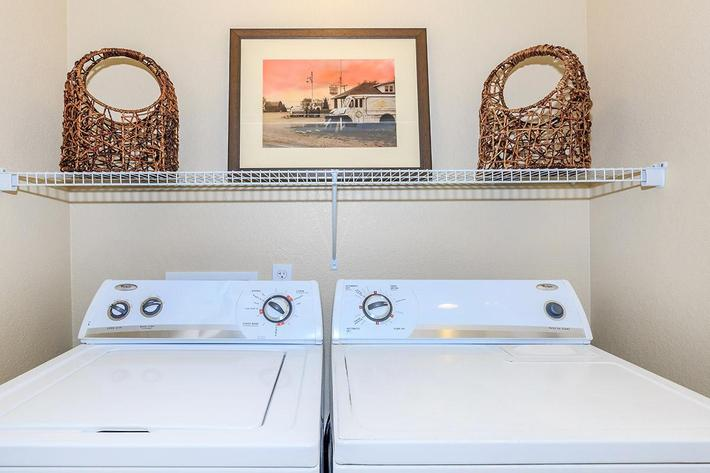 Full-size Washer and Dryer at The Paseo Apartments in Goodyear, Arizona