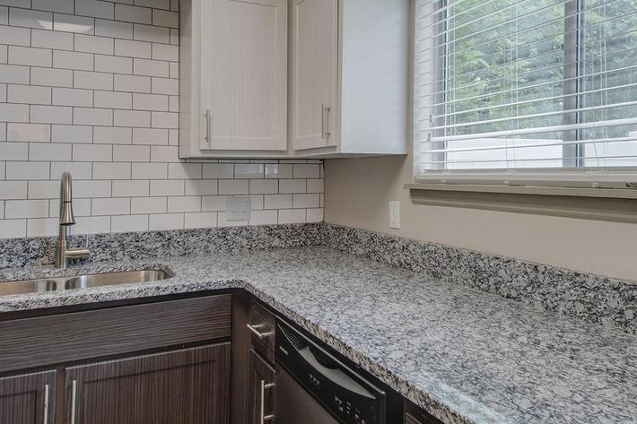 The Seward granite countertops
