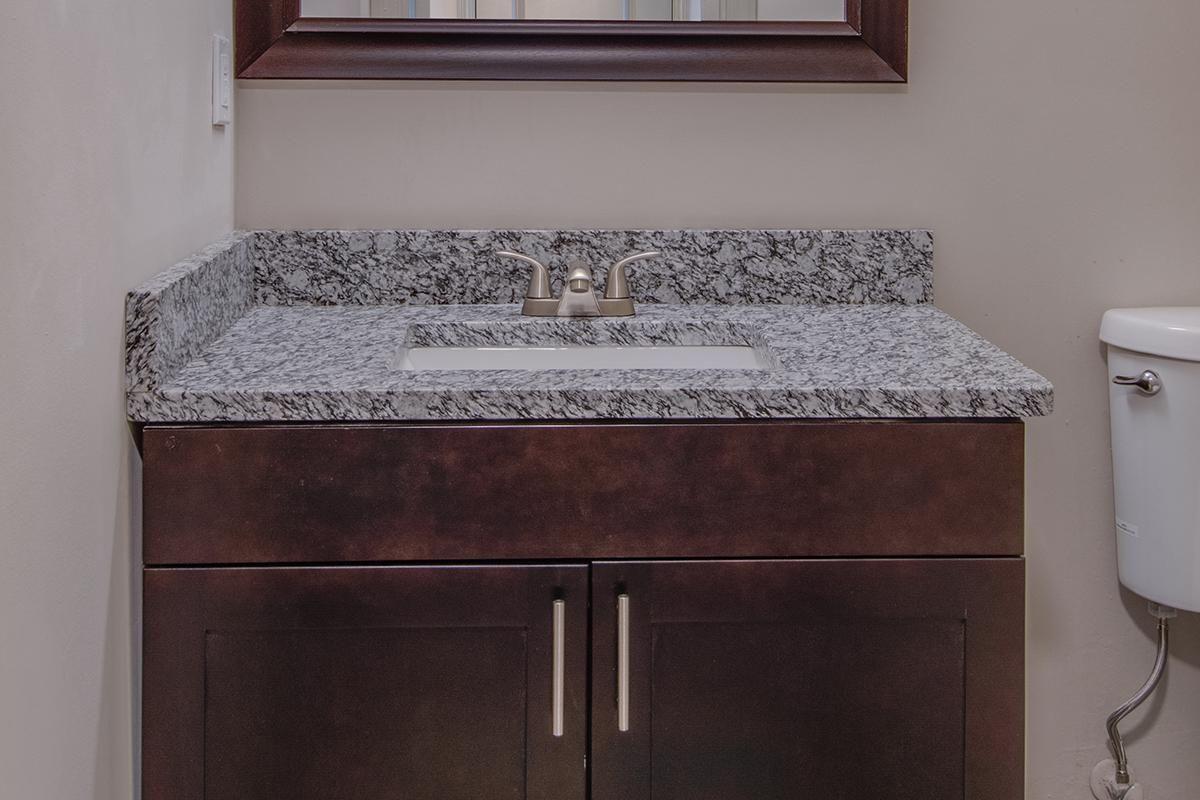 The Madison Franklin has granite countertops in bathrooms