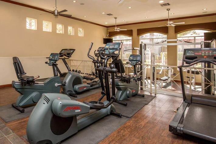 24-HOUR STATE--OF-THE-ART EXERCISE FACILITY AT THE FAIRWAYS AT SOUTHERN HIGHLANDS APARTMENTS IN LAS VEGAS