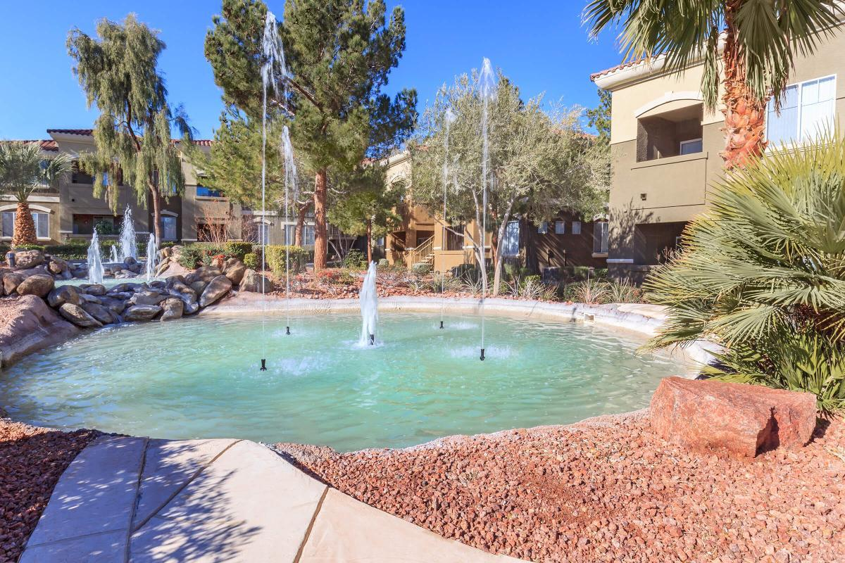 CASCADING WATER FEATURES AT LAS VEGAS APARTMENT HOMES