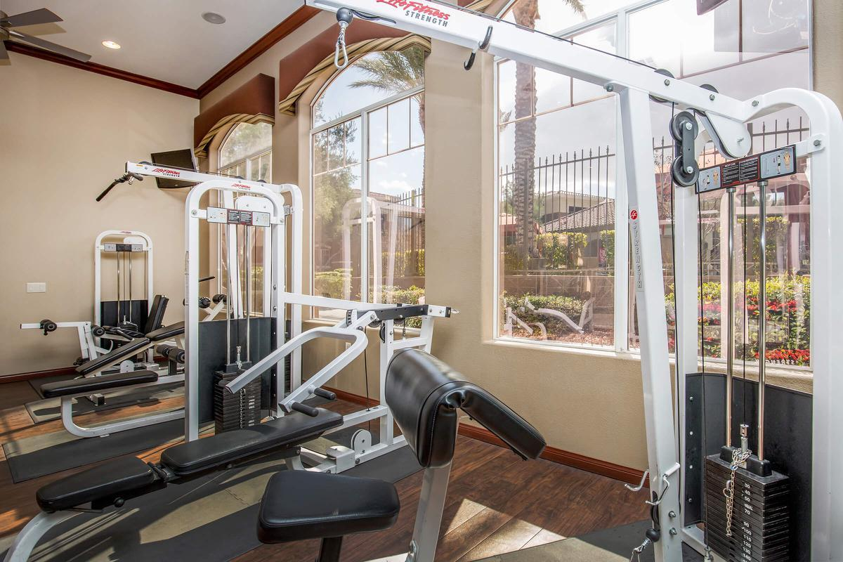 STATE-OF-THE-ART EXERCISE FACILITY AT THE FAIRWAYS AT SOUTHERN HIGHLANDS APARTMENTS IN LAS VEGAS