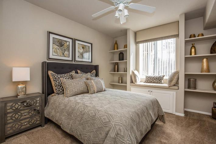 ELEGANT BEDROOM AT THE FAIRWAYS AT SOUTHERN HIGHLANDS APARTMENTS