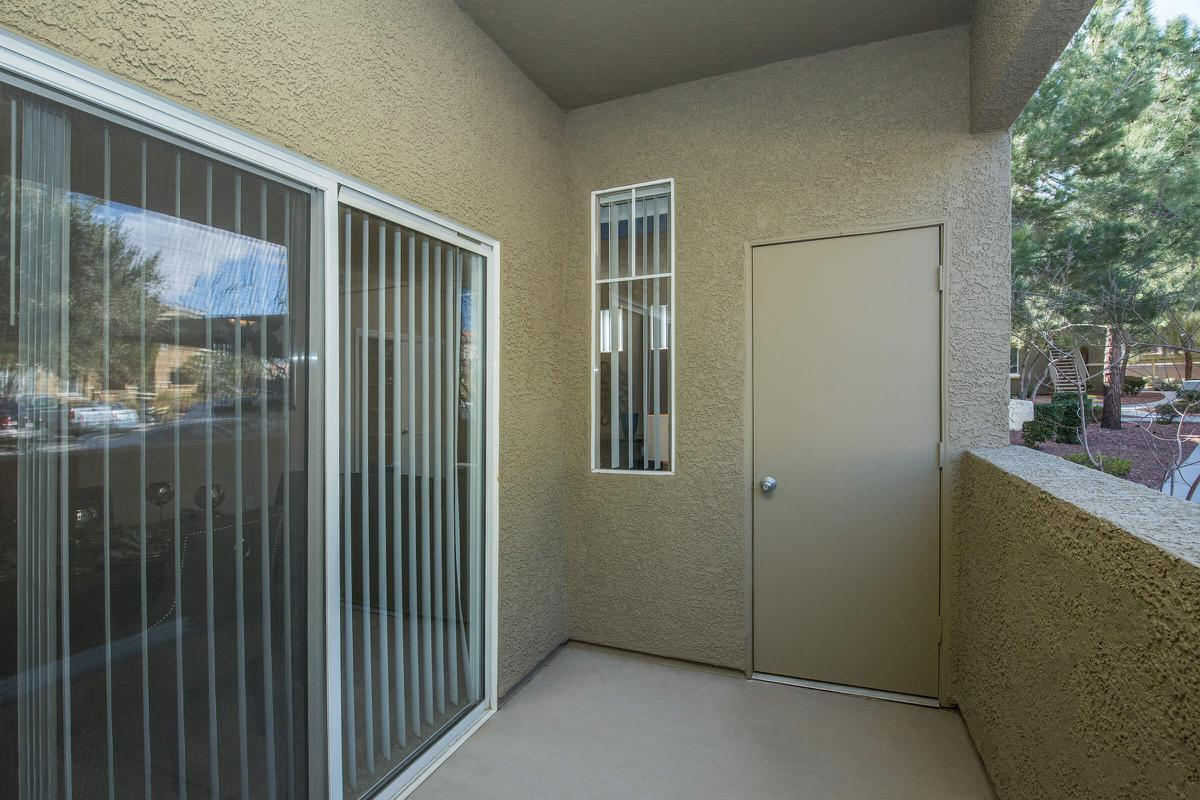 ENJOY YOUR PERSONAL BALCONY OR PATIO AT THE FAIRWAYS AT SOUTHERN HIGHLANDS APARTMENTS IN LAS VEGAS