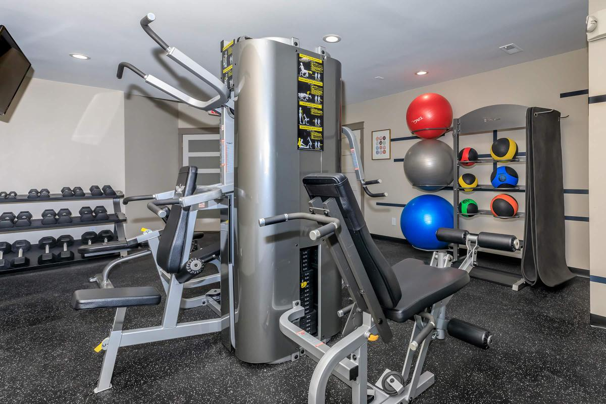 NO PAIN NO GAIN IN CHIMNEY HILL APARTMENTS STATE-OF-THE-ART FITNESS CENTER