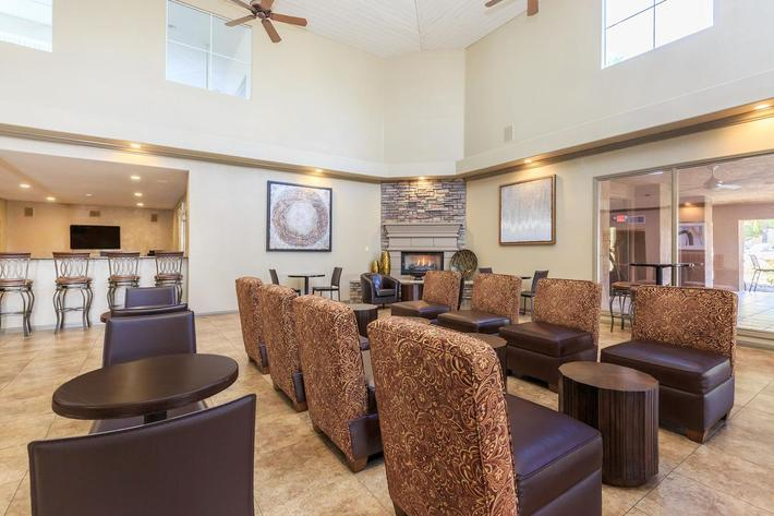 Beautiful Clubhouse with Coffee Bar, Fireplace and Kitchen