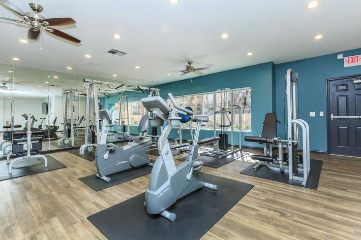 Fully Equipped Fitness Center at The Equestrian on Eastern Apartments in Henderson, NV