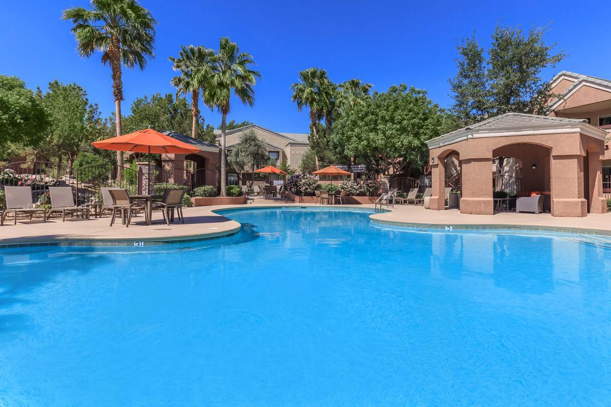 Make a Splash in Our Swimming Pool at The Equestrian on Eastern Apartments