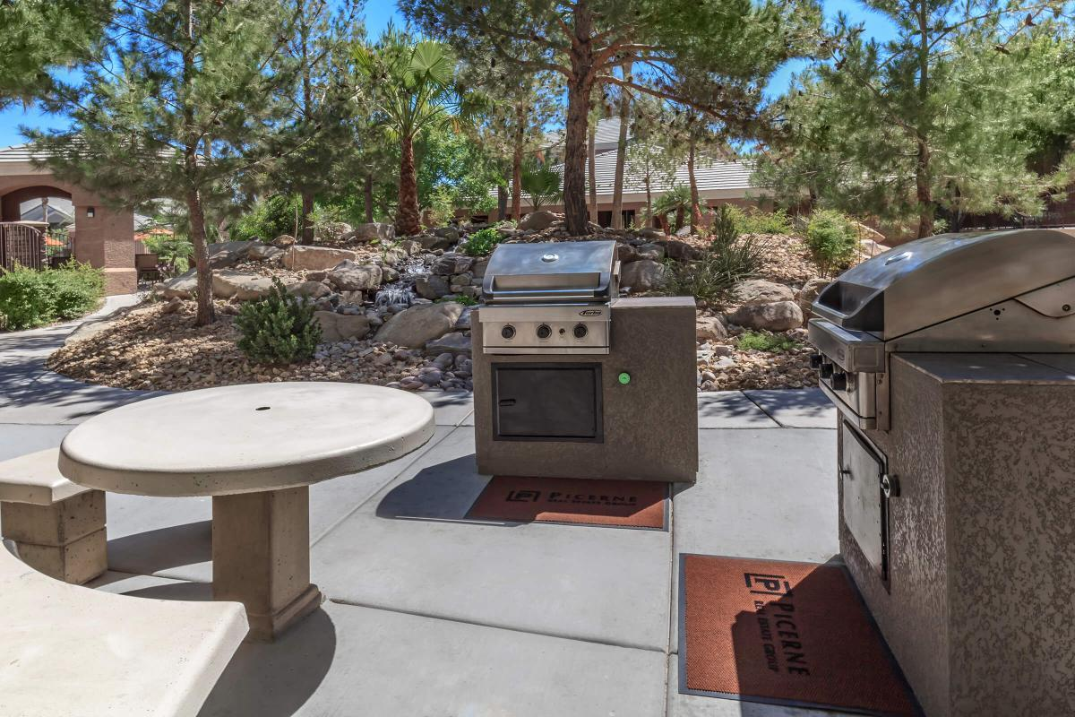Picnic Area and Barbecue at The Equestrian on Eastern Apartments in Henderson, NV