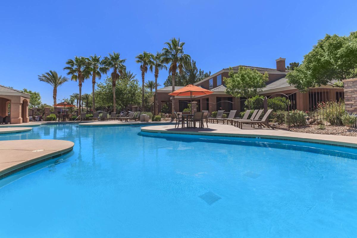 Soak Up Some Rays Pool Side at The Equestrian on Eastern Apartments in Henderson, NV