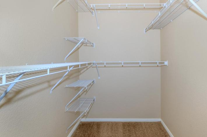 Belmont Walk-In Closet at The Equestrian on Eastern Apartments