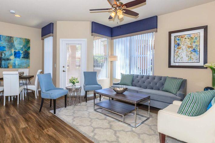 Sleek Belmont Floor Plan at The Equestrian on Eastern Apartments in Henderson, NV