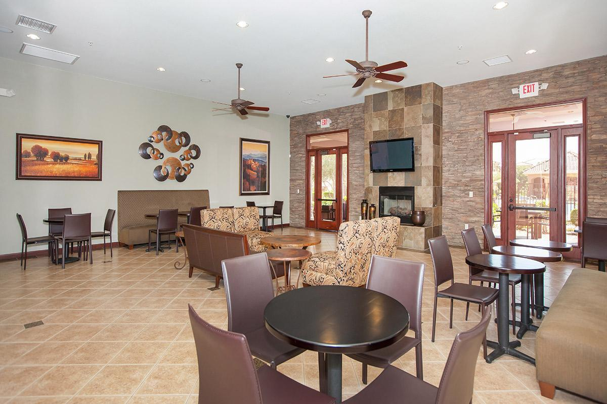 WELCOMING CLUBHOUSE AT THE PARAMOUNT APARTMENTS