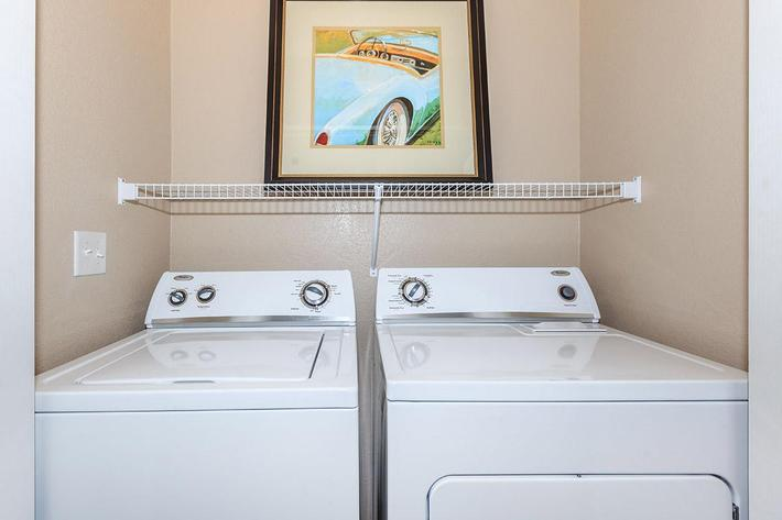 WASHER AND DRYER IN HOME AT THE PARAMOUNT APARTMENTS