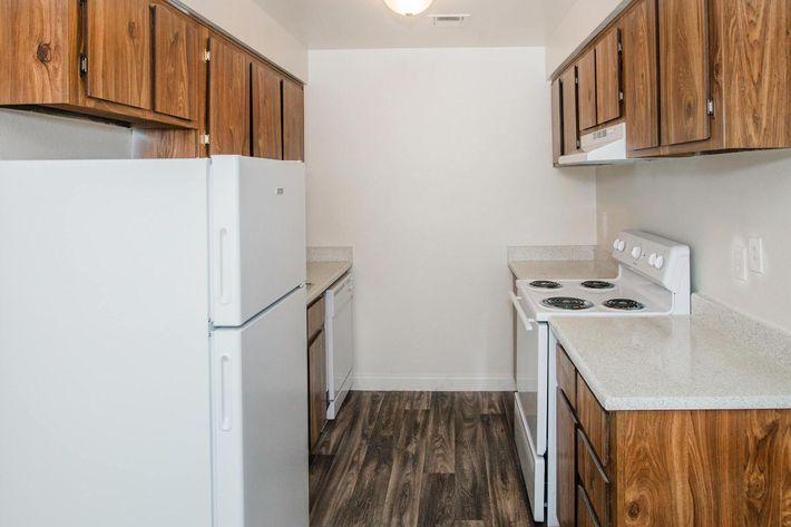 This is a kitchen at Sundance Village