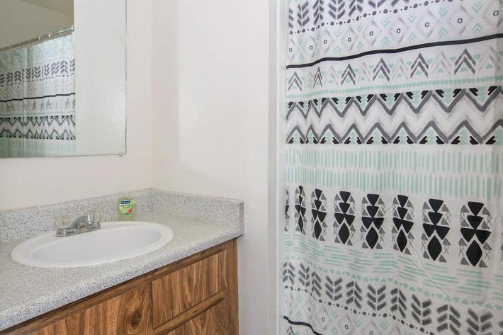 Modern bathroom at Sundance Village