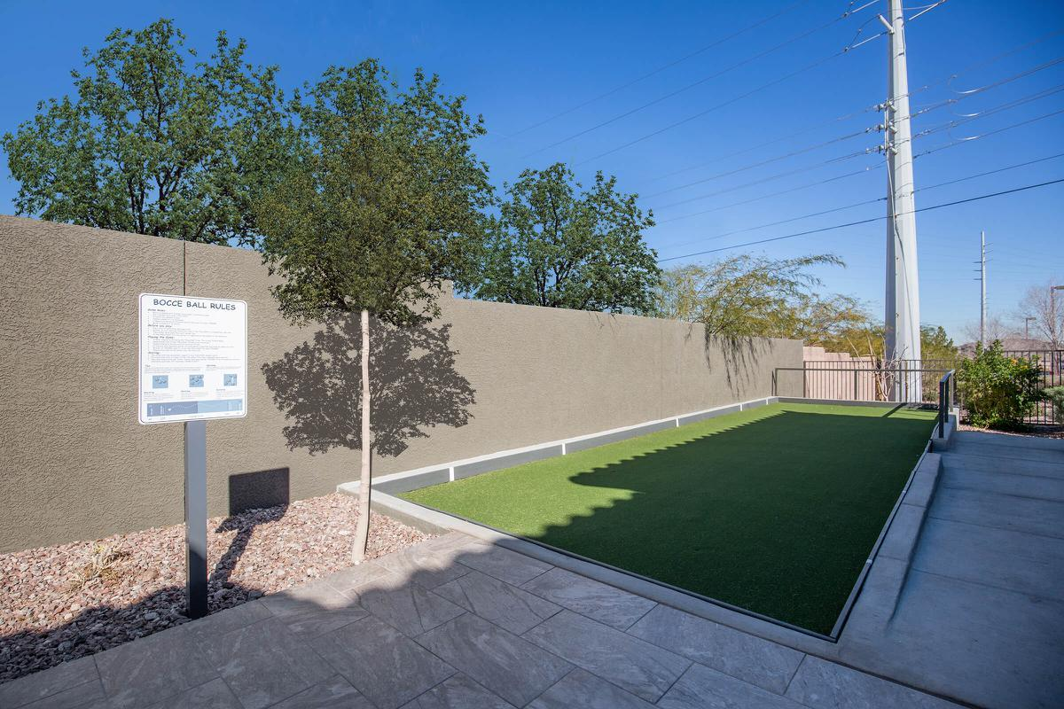 Bocce Ball Court here at The Passage Apartments in Henderson, NV