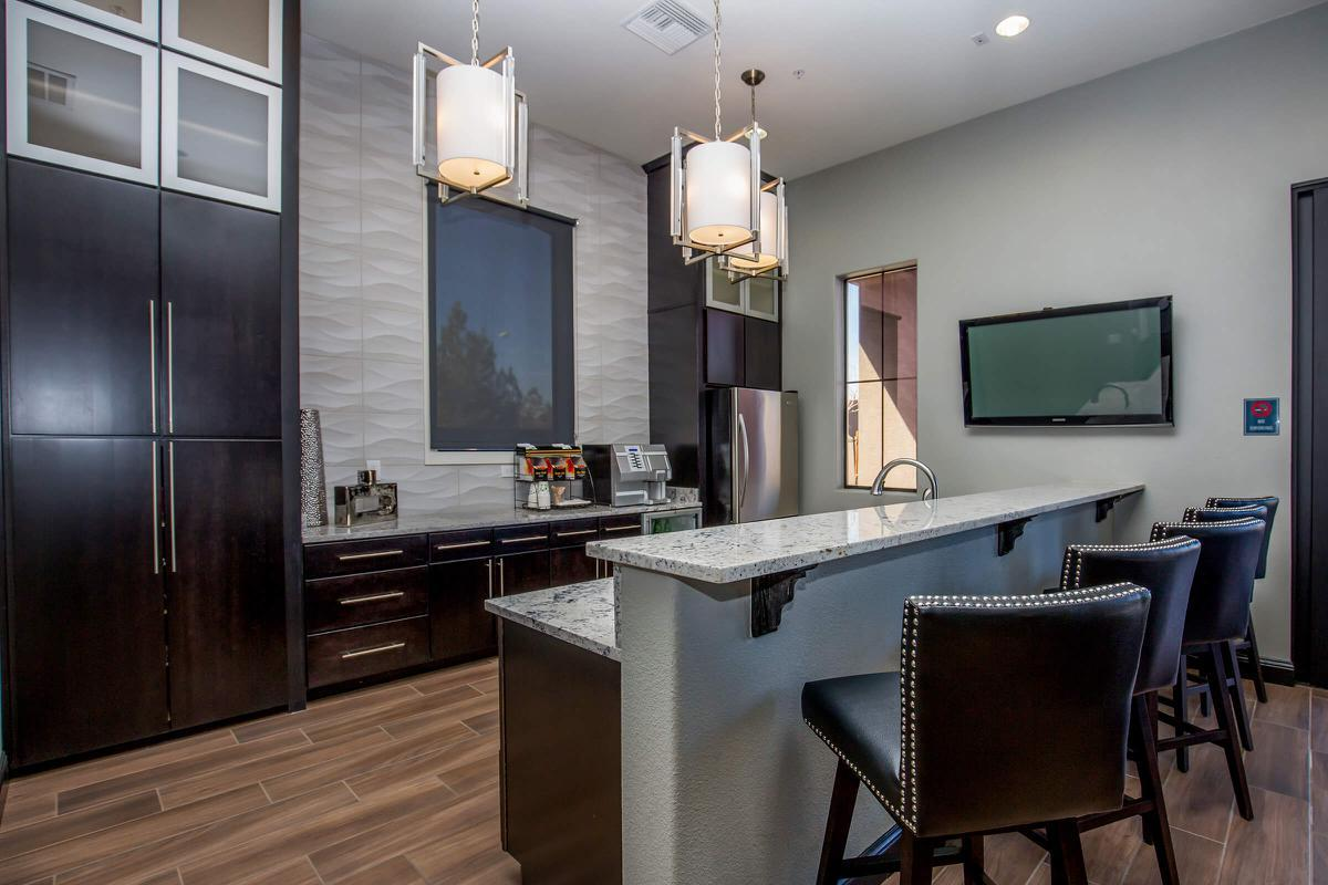 Elegant Clubhouse with Kitchen here at The Passage Apartments in Henderson, NV