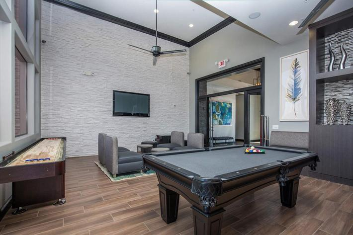 Enjoy a Game of Pool in the Clubhouse