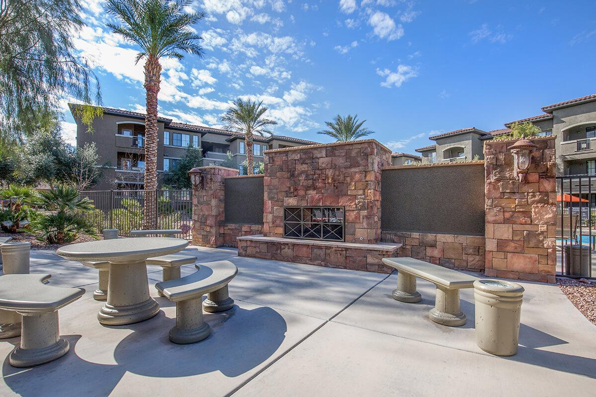 Enjoy our Fireplace Lounge here at The Passage Apartments