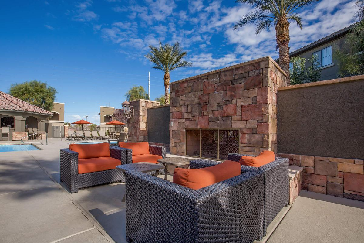 Enjoy the Lounge Area with Wet Bar at The Passage Apartments