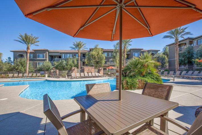 Meet with Friends Poolside at The Passage Apartments