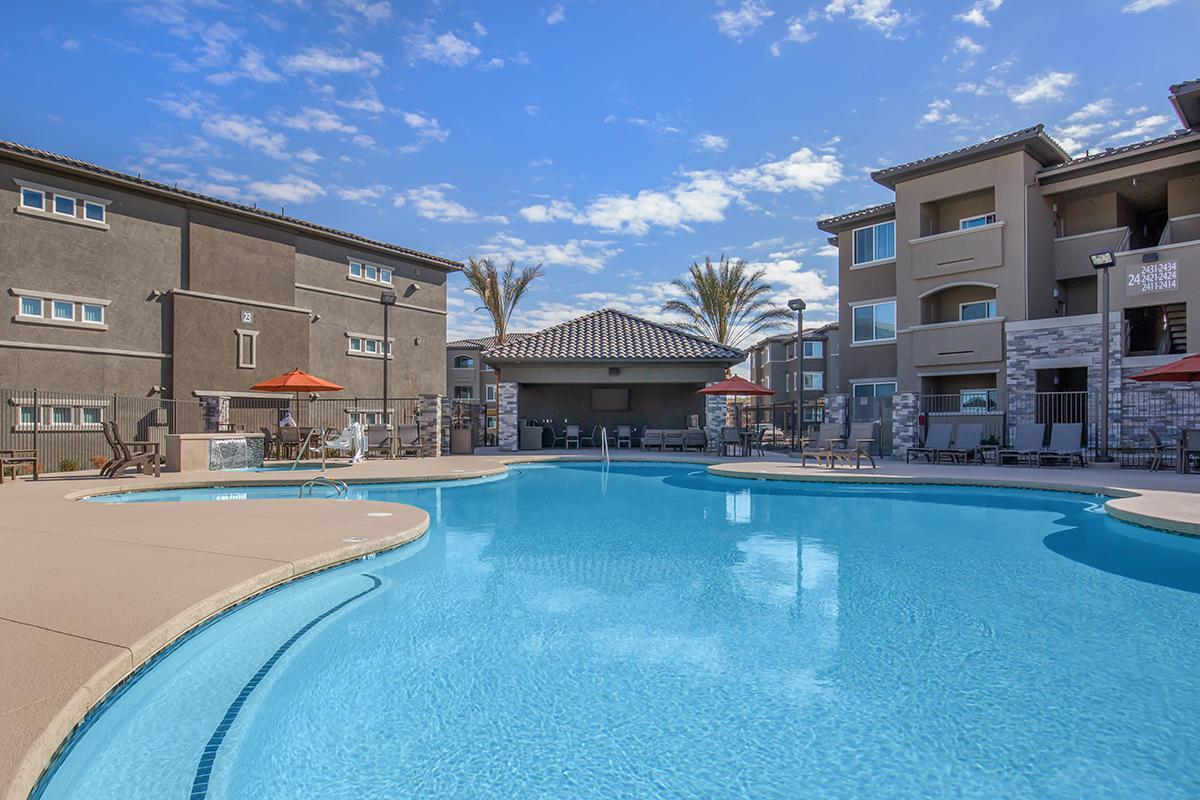 Shimmering Swimming Pool at The Passage Apartments in Henderson, NV