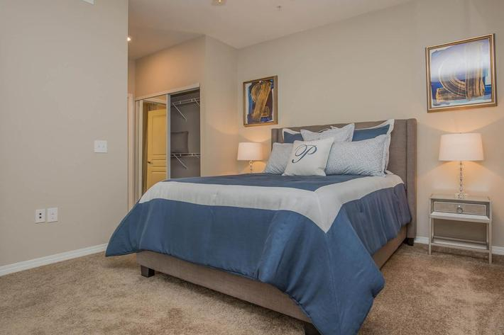 B3 Elegant Bedroom here at The Passage Apartments in Henderson, NV