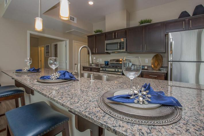 B3 Gourmet Kitchen at The Passage Apartments in Henderson, NV