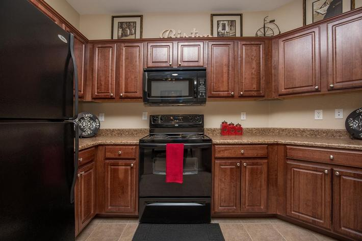 The Signature Fully-Equipped Kitchen at The Passage Apartments in Henderson, NV