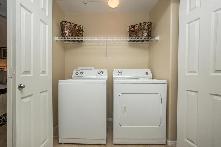 The Signatures In-Unit Washer and Dryer at The Passage Apartments
